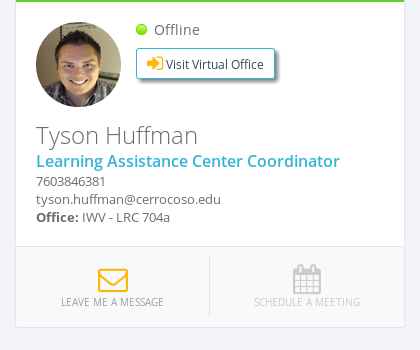 Tyson Huffmans' contact info: 760-384-6381
