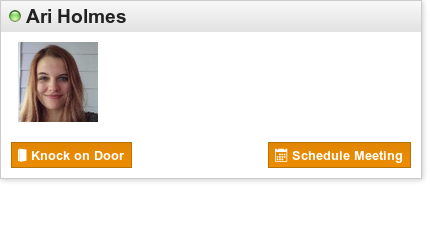 Cranium Cafe contact card sample for Online Advisor Ari Holmes