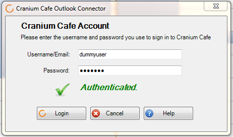 Cranium Cafe Outlook Connector Documentation